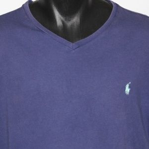 Vintage Ralph Lauren Polo Cotton V-Neck XL, Navy